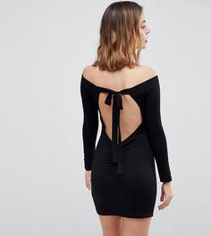 Облегающее платье мини с завязкой на спине ASOS PETITE - Черный