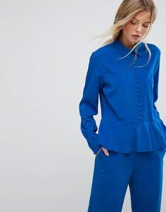 Расклешенная блузка от комплекта с пуговицами Gestuz - Синий