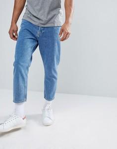 Укороченные джинсы свободного кроя Only & Sons - Синий