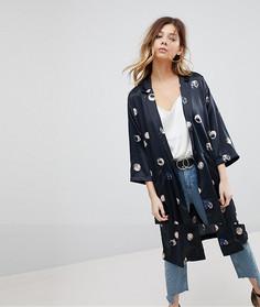 Куртка с принтом Pieces - Черный