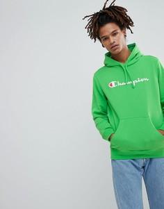 Худи с логотипом Champion - Зеленый