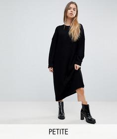 Удлиненное трикотажное платье-джемпер Noisy May Petite - Черный