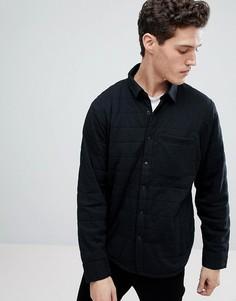 Черная стеганая куртка Abercrombie & Fitch Sport - Черный