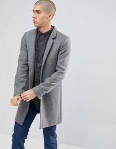 Пальто с воротником-стойкой Only & Sons - Серый