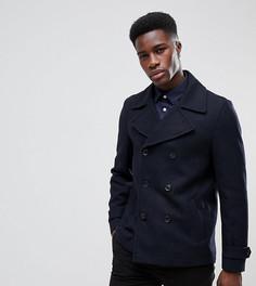 Темно-синее пальто-бушлат Burton Menswear - Темно-синий