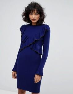 Трикотажное платье с оборками 2nd Day - Темно-синий