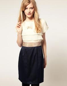 Платье с оборками на лифе Laundry Room - Черный