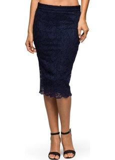 Кружевная юбка-карандаш (черный) Bonprix