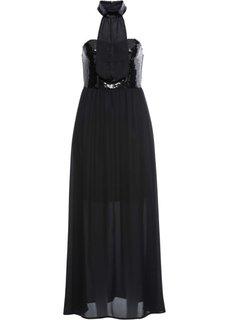 Платье с аппликацией из пайеток (черный) Bonprix