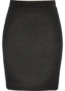 Юбка из бархатистого материала (черный/золотистый) Bonprix