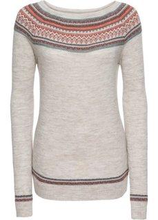 Пуловер вязаный (бежевый) Bonprix