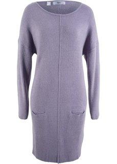 Платье вязаное (дымчато-фиолетовый) Bonprix