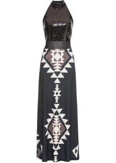 Платье на одно плечо (черный/светло-коричневый/бежевый) Bonprix