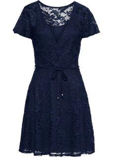 Платье из кружева с пайетками (темно-синий) Bonprix
