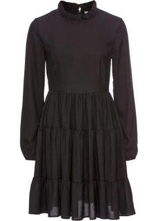Платье из креп-шифона (черный) Bonprix