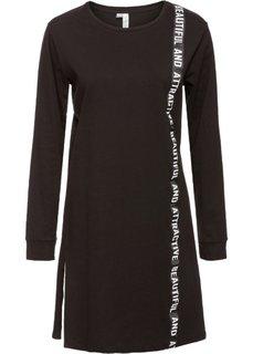 Платье с принтом (черный с рисунком) Bonprix