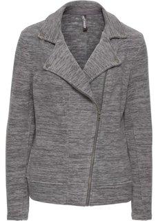Куртка из флиса в байкерском стиле (серый меланж) Bonprix