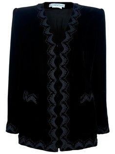 строгий пиджак с вышивкой Givenchy Vintage