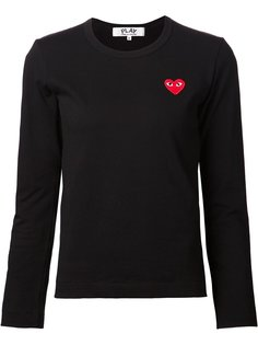 футболка с вышитым сердцем Comme Des Garçons Play