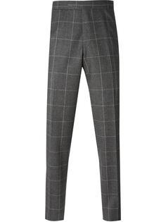 брюки с принтом в сетку Fashion Clinic Timeless