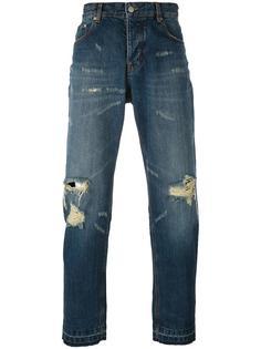 свободные в бедрах брюки с рваными деталями Ami Alexandre Mattiussi