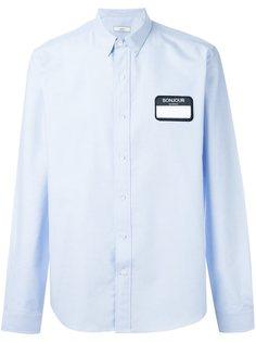 рубашка с нашивкой в виде бейджа Ami Alexandre Mattiussi