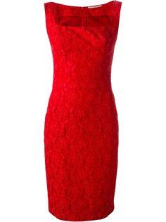 приталенное кружевное жаккардовое платье  Ermanno Scervino