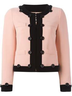 укороченные пиджак с контрастной окантовкой Boutique Moschino