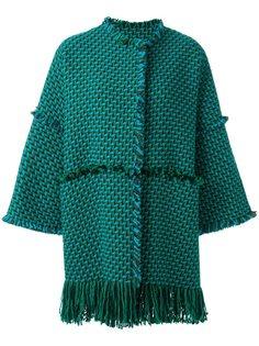 тканое пальто с необработанными краями Gianluca Capannolo