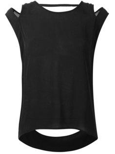 блузка с вырезами на плечах Barbara I Gongini