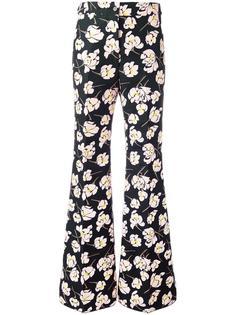 брюки с цветочным узором Rochas