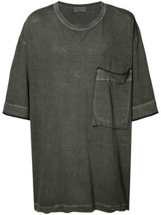 футболка свободного кроя с линялым эффектом Yohji Yamamoto