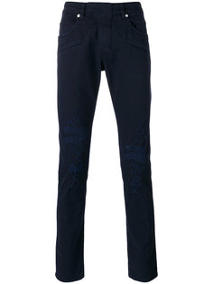 джинсы скинни с потертой отделкой Pierre Balmain