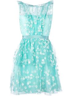 тюлевое платье с цветочным узором Si Jay