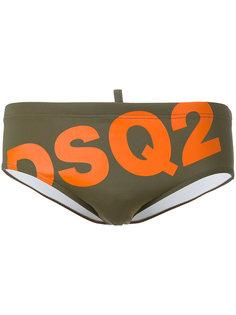плавки с принтом логотипа Dsquared2