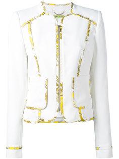 пиджак с контрастной окантовкой Versace Jeans