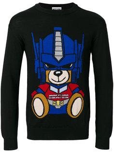 свитер с медведем-трансформером Moschino