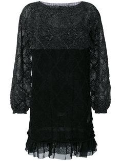 полупрозрачное платье с металлизированной отделкой Twin-Set