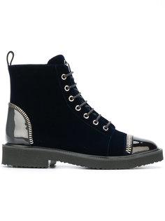 ботинки с лакированными вставками Giuseppe Zanotti Design