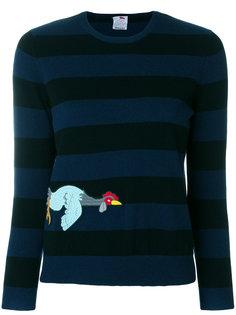 свитер в полоску с вышивкой  Ultràchic