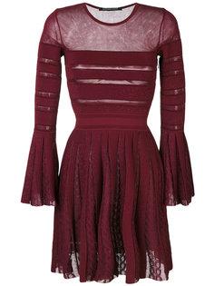 полупрозрачное платье со складками Antonino Valenti