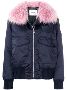 куртка-пуховик с контрастным воротником Dondup