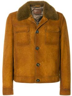 куртка с воротником из овчины Prada