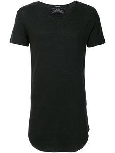 удлиненная футболка с вырезом-ковшом Balmain
