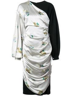 asymmetric draped dress Loewe