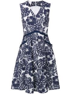 платье с V-образным вырезом и цветочным принтом Talbot Runhof