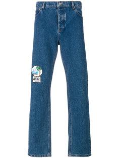 джинсы стандартной посадки с заплатками Kenzo
