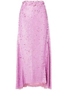 юбка с драпировкой и пайетками  Nina Ricci