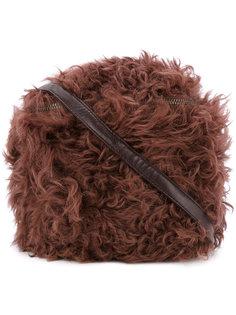 сумка на плечо с отделкой из овчины Cityshop
