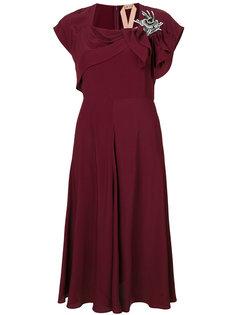 декорированное платье с бантом Nº21
